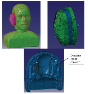 earmuff FEM model viroacoustic