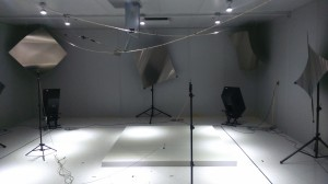 Sound absorption reverberant room